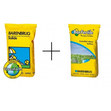 Trawa ozdobna Solide + nawóz do zakładania nowej trawy  Barfertile Regeneracyjny