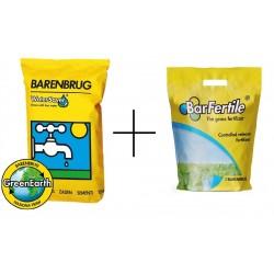 Trawa odporna na susze WATER SAVER Dry & strong 15kg + nawóz ukorzeniający Barfertile Regeneracyjny